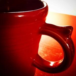 A new red mug.